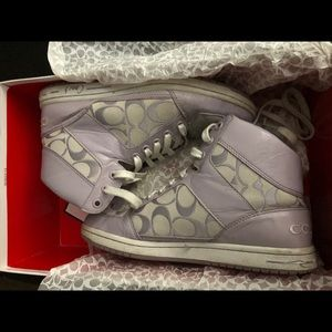 Coach Norra lavender high top sneakers